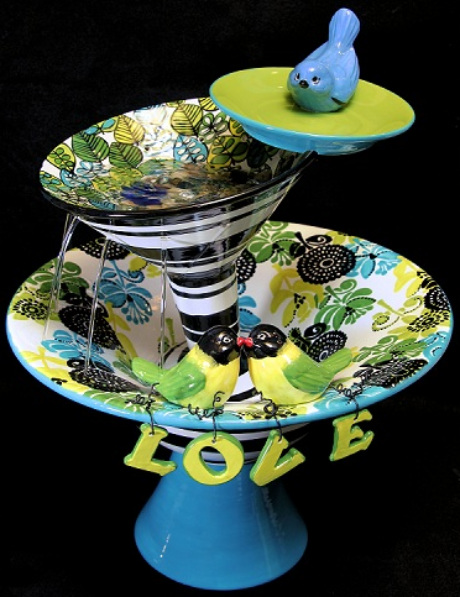 Dontaion piece painted by WHIMSY heARTS custom pottery for the Vera Bradley Foundation for Breast Cancer!