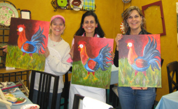 Rooster Paint Your Own Canvas Class