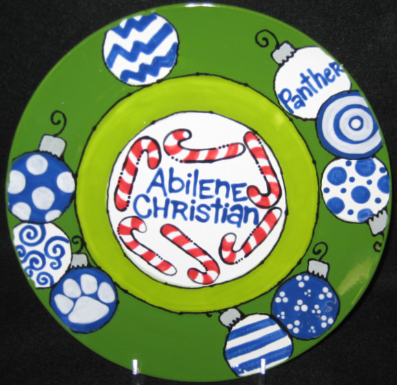 Great Christmas Plate with your school!!