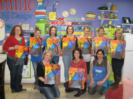 Canvas Painting Class with a great group of ladies!!