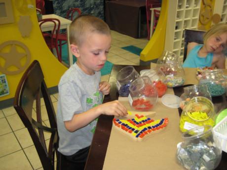 Sweet Boy doing a Mosaic!