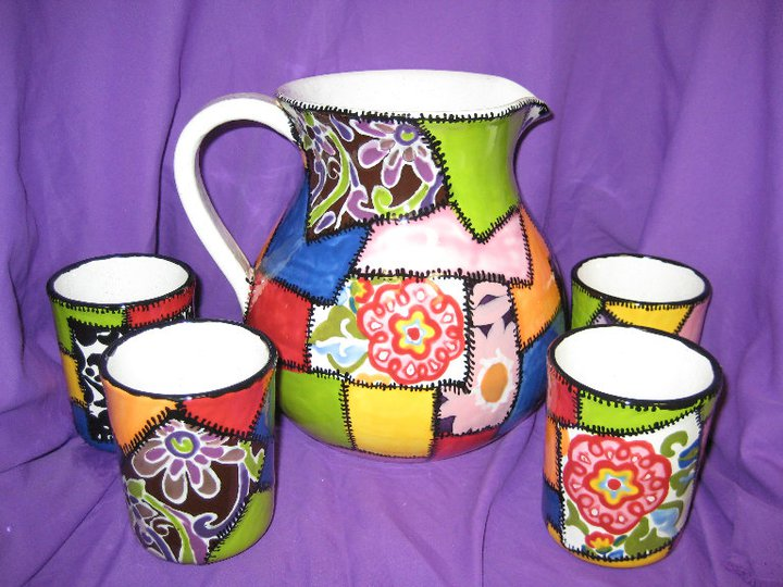 Painted Drink Set